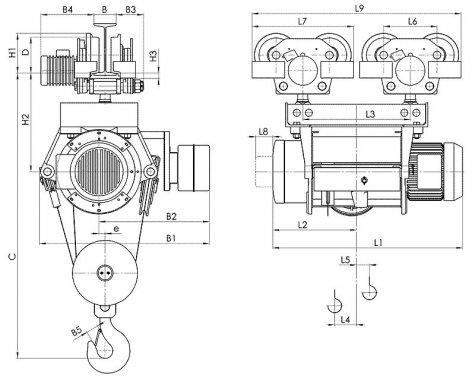 Таль электрическая передвижная типа Т39 грузоподъемностью 10 тонн
