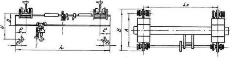 Кран мостовой ручной однобалочный подвесной г / п 0,5 т , 1 т , 2т, 3,2 т , 5 т
