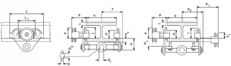 Крантележки htp и htg (Columbus Mckinnon) грузоподъёмностью 0,5