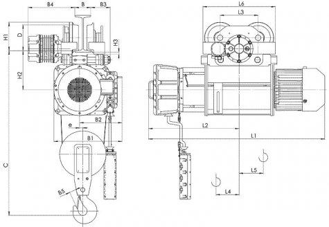 Таль электрическая передвижная типа ВТ10 взрывобезопасного исполнения (ВБИ) IIB T4, IIC Т5 , г/п 5т