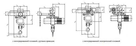 Таль электрическая цепная передвижная с крантележкой 3,2-5