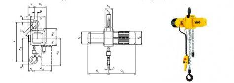 Таль электрическая цепная стационарная CPE, CPV 2-3 т.