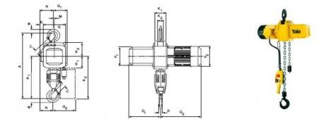 Таль электрическая цепная стационарная CPE, CPV  3.2-5т.