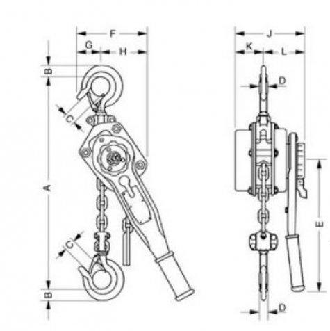 Yale UNOplus – рычажная таль, г/п 750 – 6000 кг