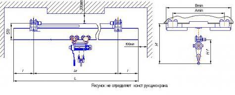 Кран мостовой подвесной однобалочный исполнения ВБИ г/п 8т