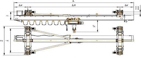 Кран мостовой подвесной однобалочный исполнения ВБИ г/п 12,5т