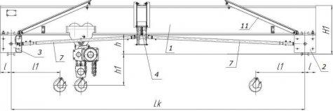 Кран-балки ручные опорные грузоподъемностью 1т (КОР-1,0) – 2т (КОР-2,0) – 3,2т (КОР-3,2)