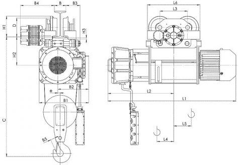 Таль электрическая передвижная типа ВТ10 взрывобезопасного исполнения (ВБИ) IIB T4, IIC Т5 , г/п 1т
