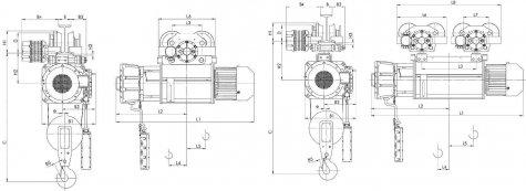 Таль электрическая передвижная типа ВТ10 взрывобезопасного исполнения (ВБИ) IIB T4, IIC Т5, г/п 2т