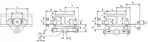 КРАН-ТЕЛЕЖКИ HTP и HTG (Columbus McKinnon) грузоподъёмностью 0,5; 1.0; 2.0; 3,0; 5,0 т .