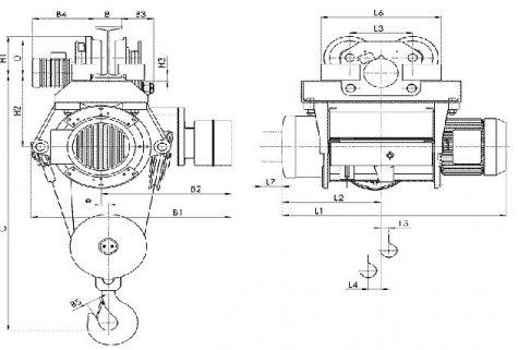 Таль электрическая передвижная типа Т39 грузоподъемностью 2 тонны